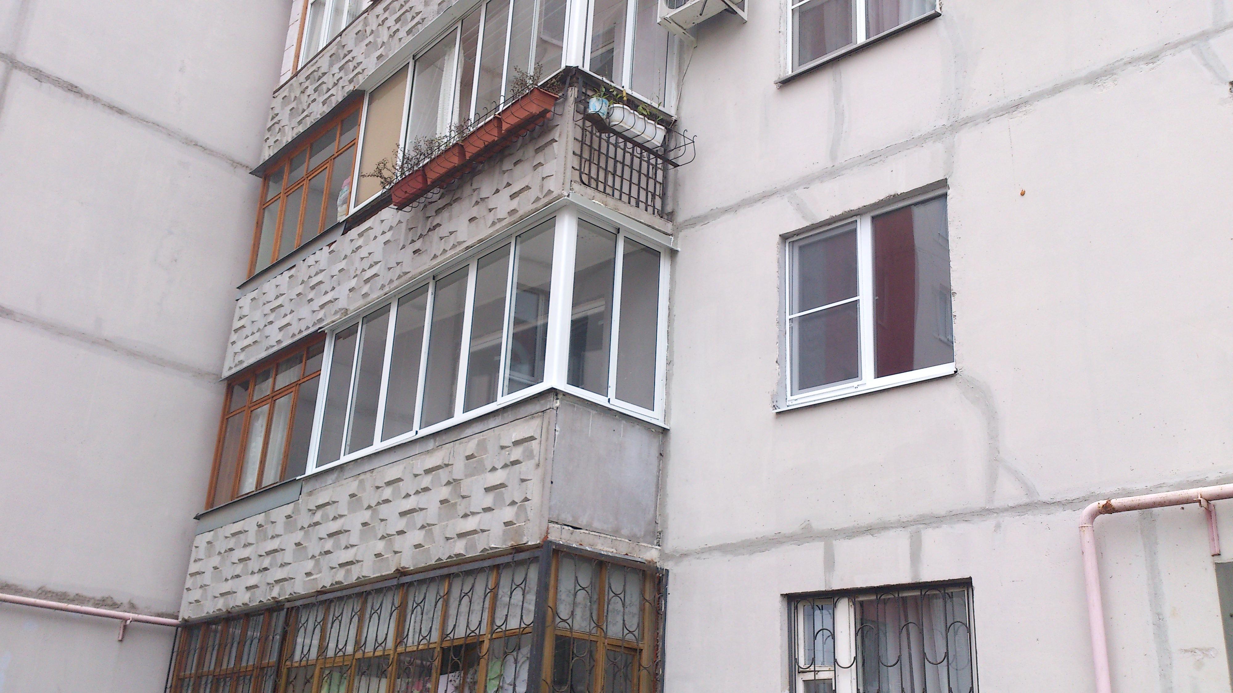балкон г-образный