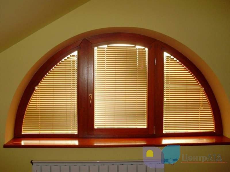 арочное окно с ламинацией