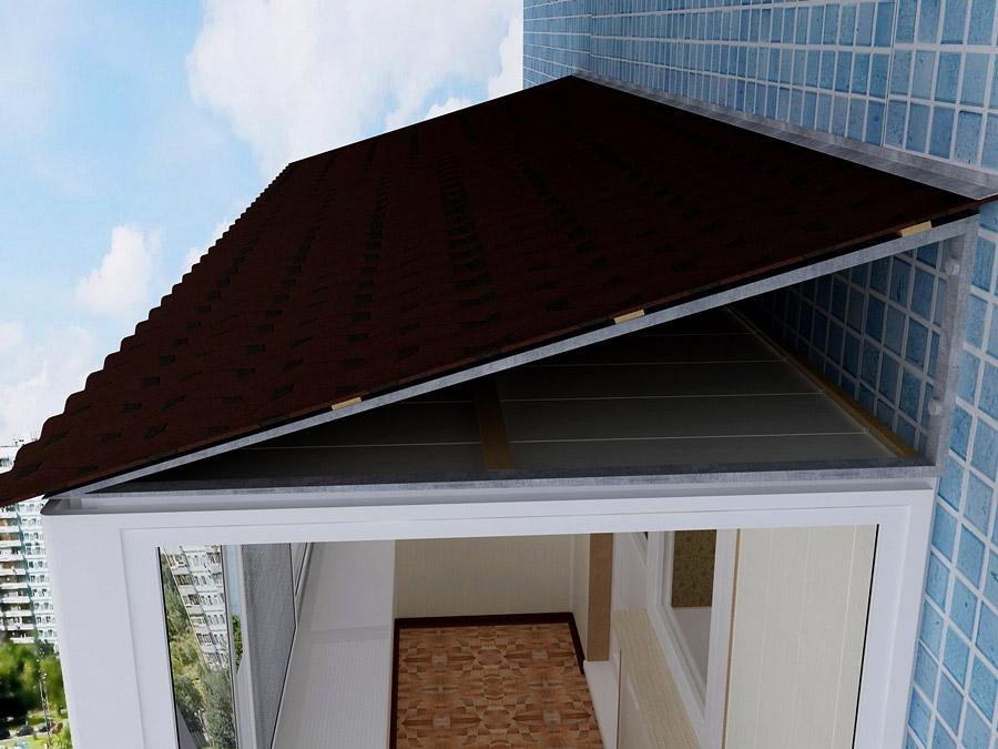 Крыша для балкона, ремонт крыши балкона - цена в киеве центр.