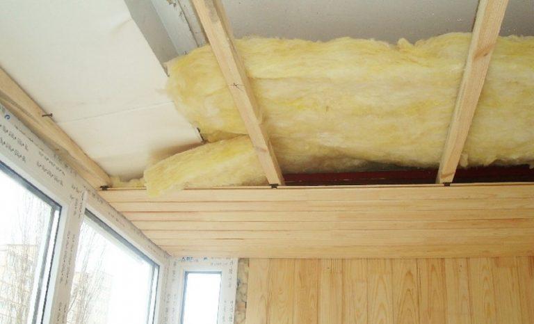 как быстро прикрепить стекловату к потолку